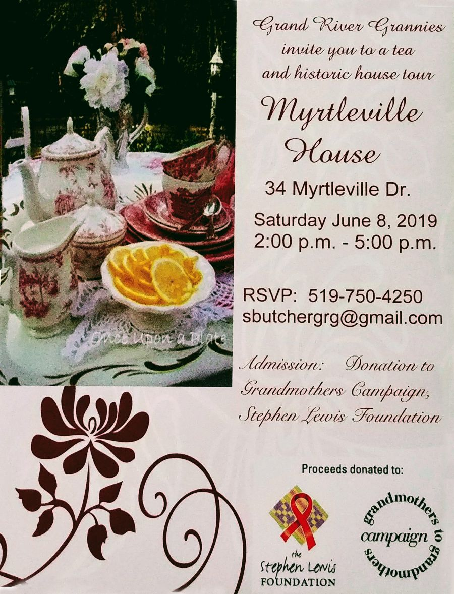 tea & historic house tour poster