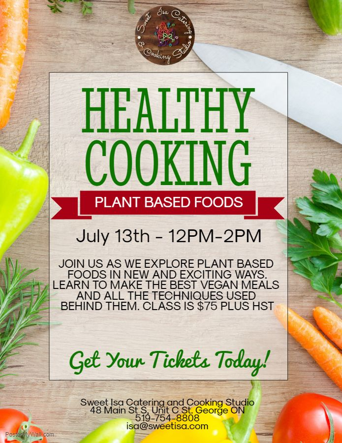 Healthy Cooking - Plant Based Foods poster