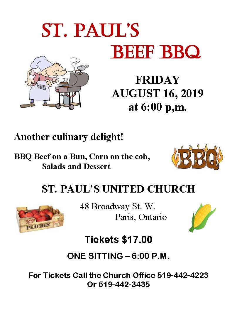 St. Paul's Beef BBQ poster