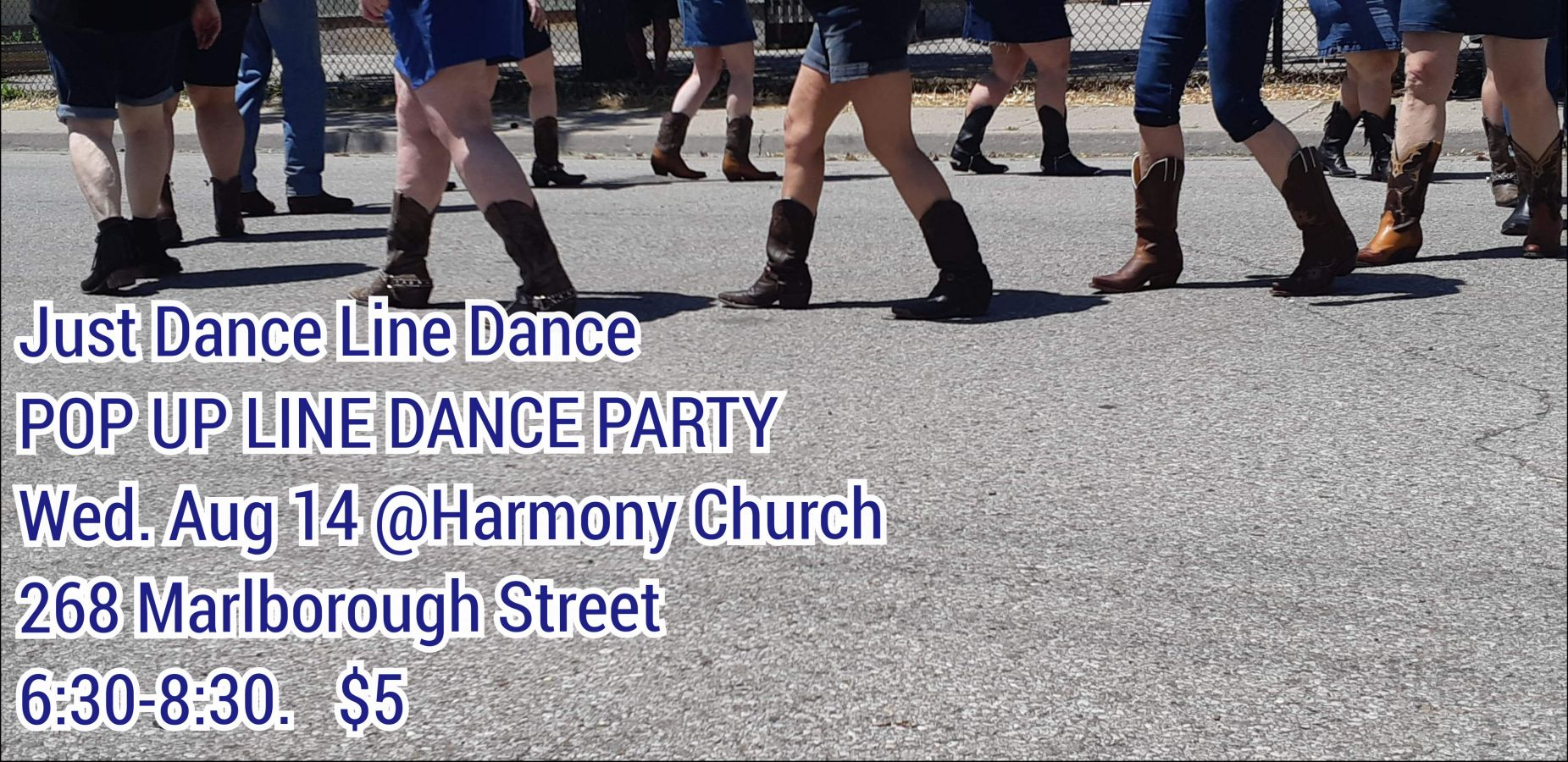 Pop Up Line Dance Party poster