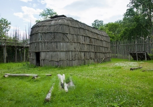 Iroquois Longhouse in Canada