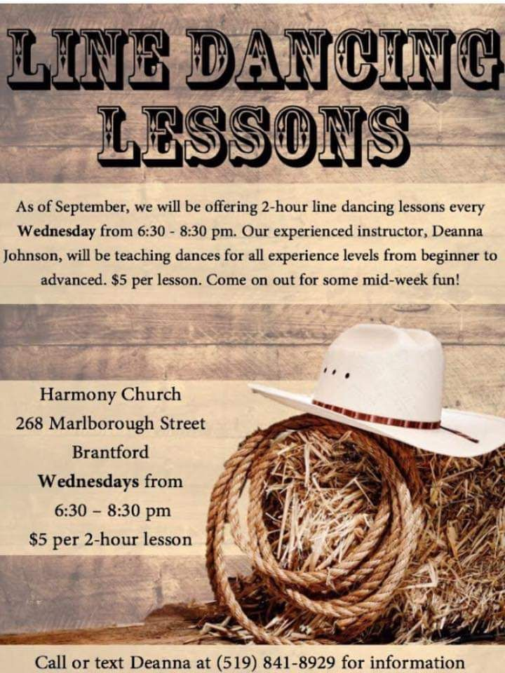 Line Dancing Lessons poster