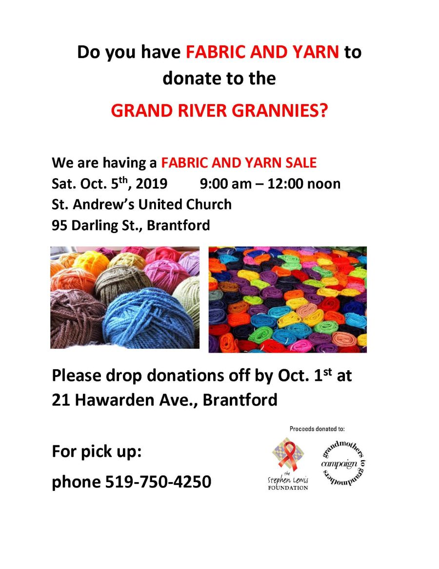 Fabric and Yarn Sale poster