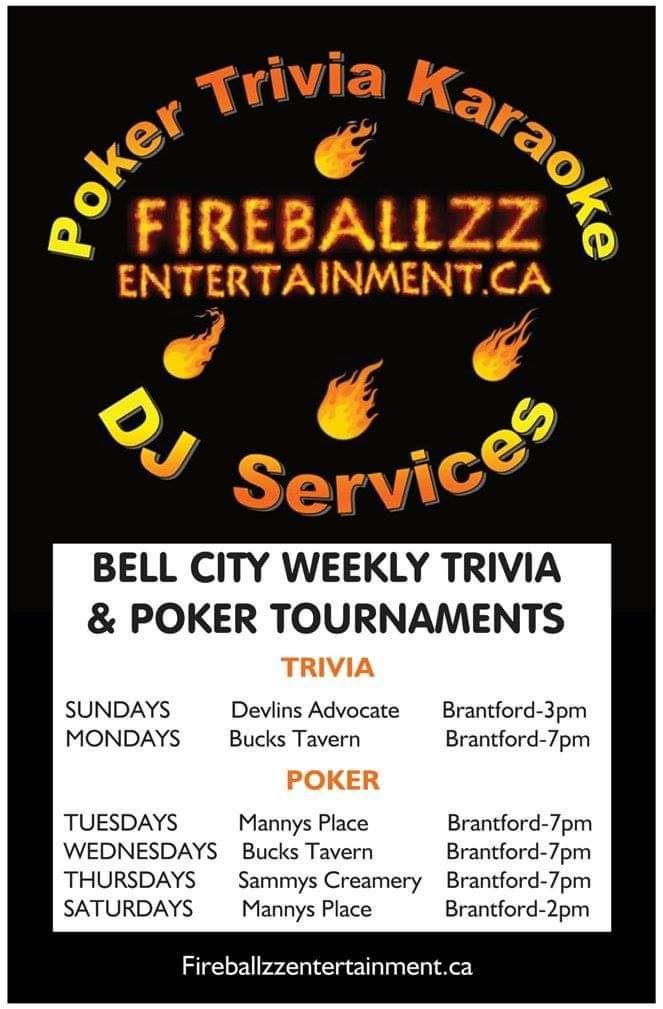 Poker Trivia Karaoke DJ Services poster