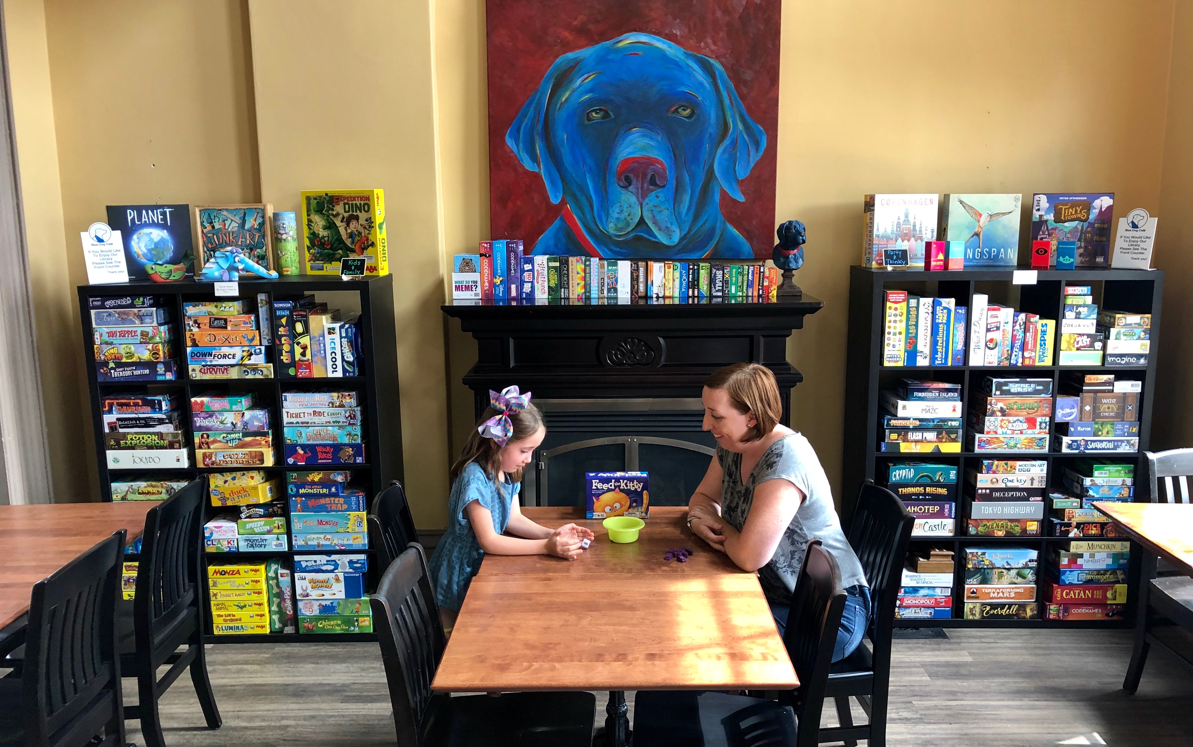 Blue Dog Cafe - Playing Games