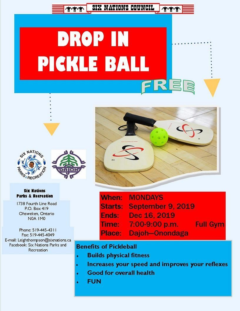 Drop In Pickle Ball poster