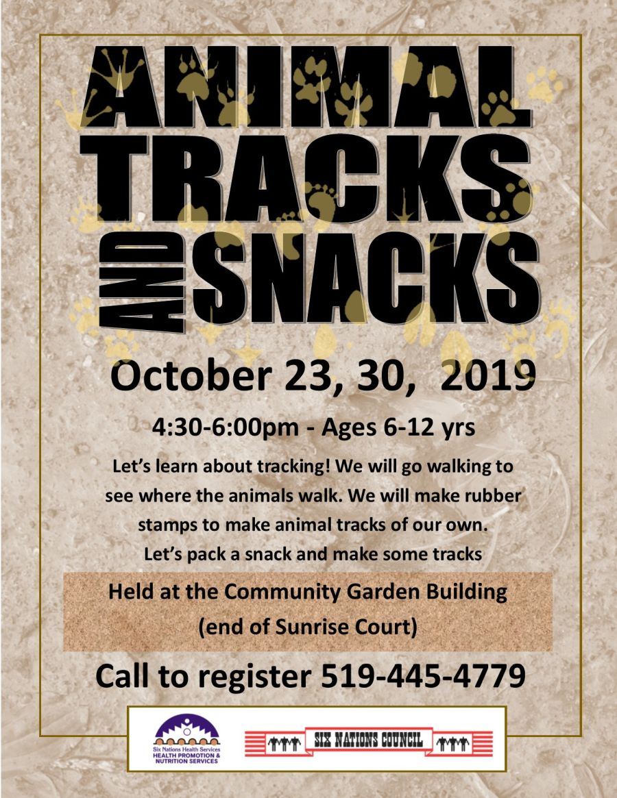 Animal Tracks and Snacks poster