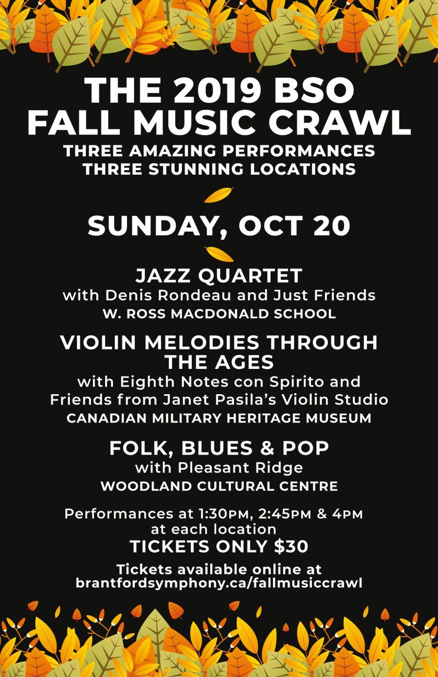 Fall Music Crawl poster