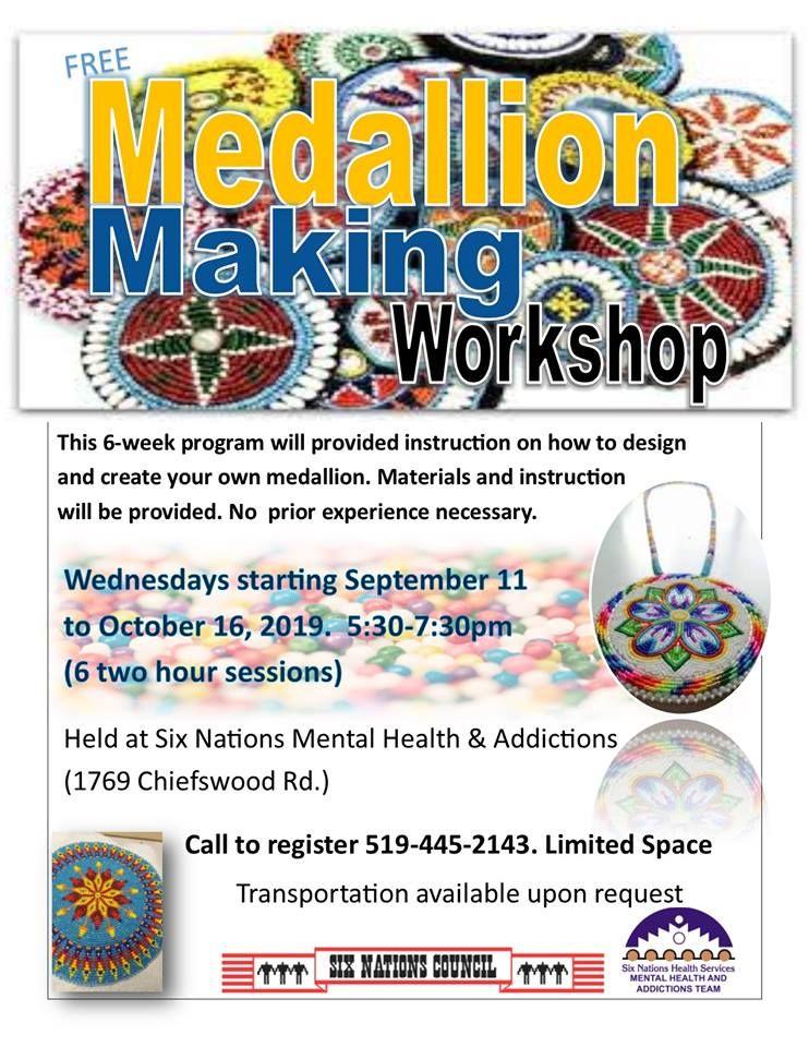 Free Medallion Making Workshop poster