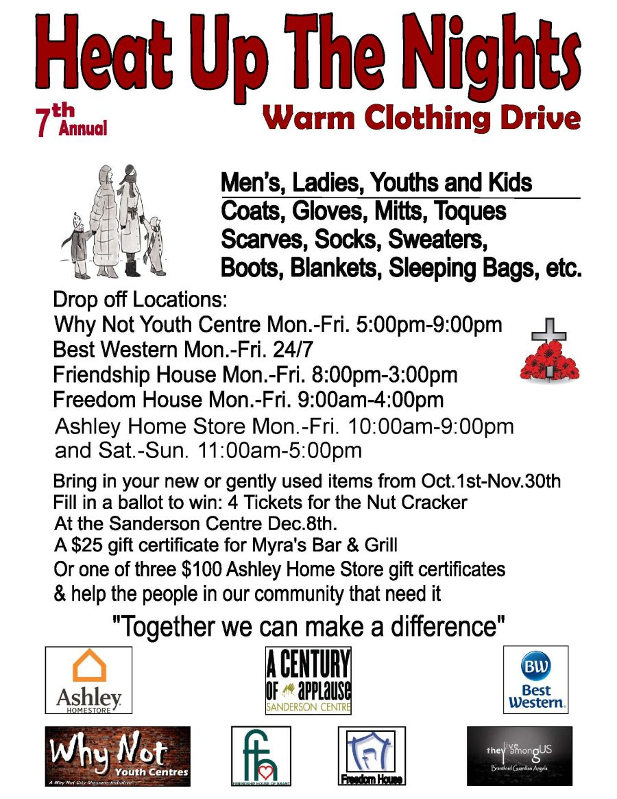 Heat UP The Nights Warm Clothing Drive poster