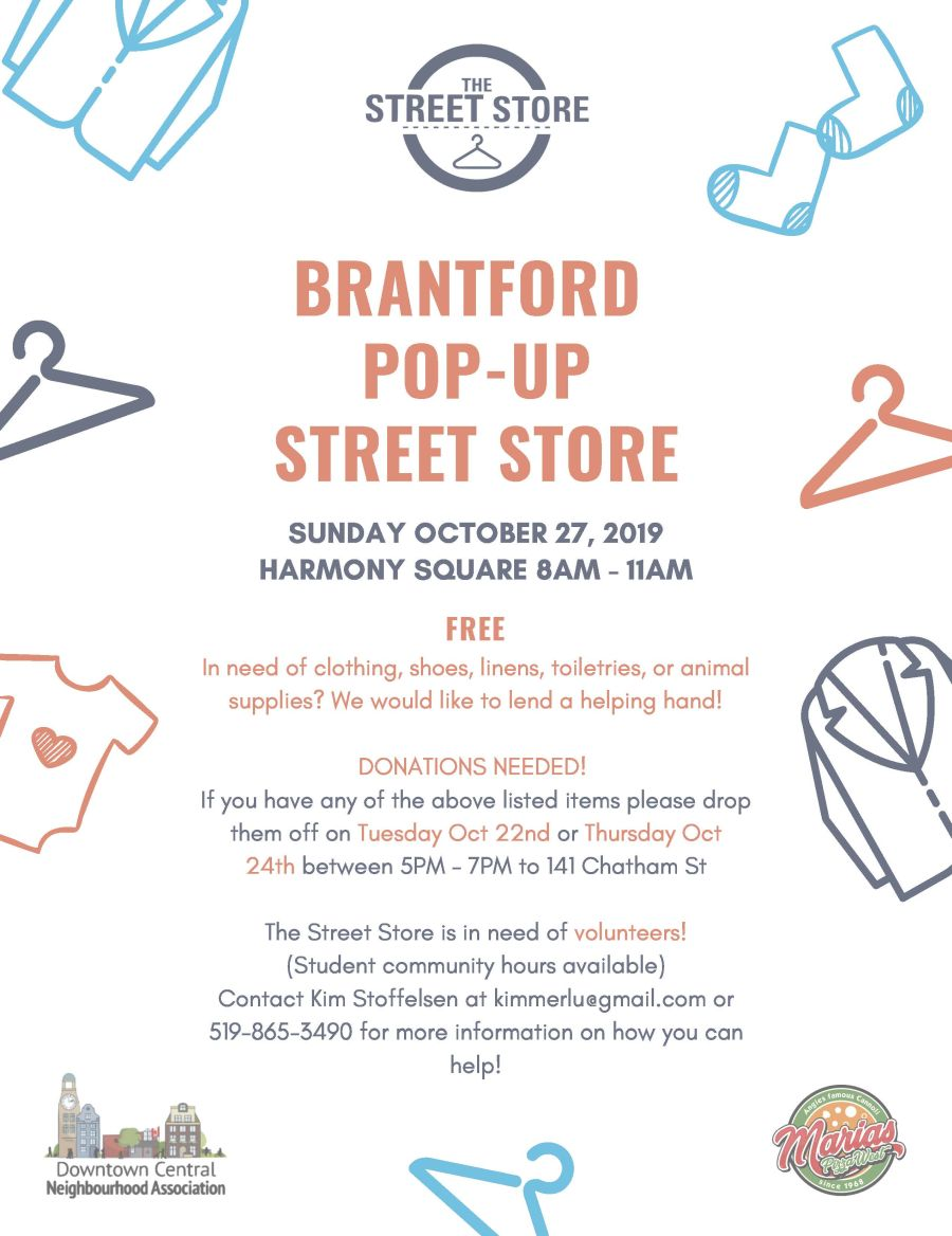 Brantford Pop-Up Street Store poster