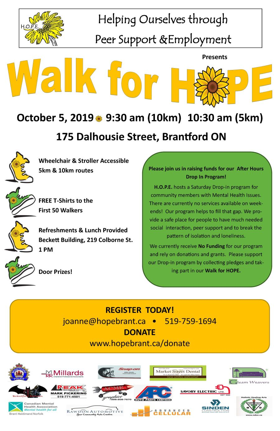 Walk for HOPE poster