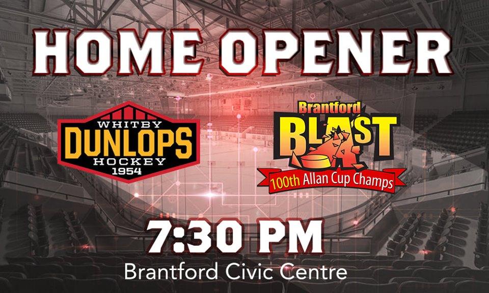 Brantford Blast Home Opener