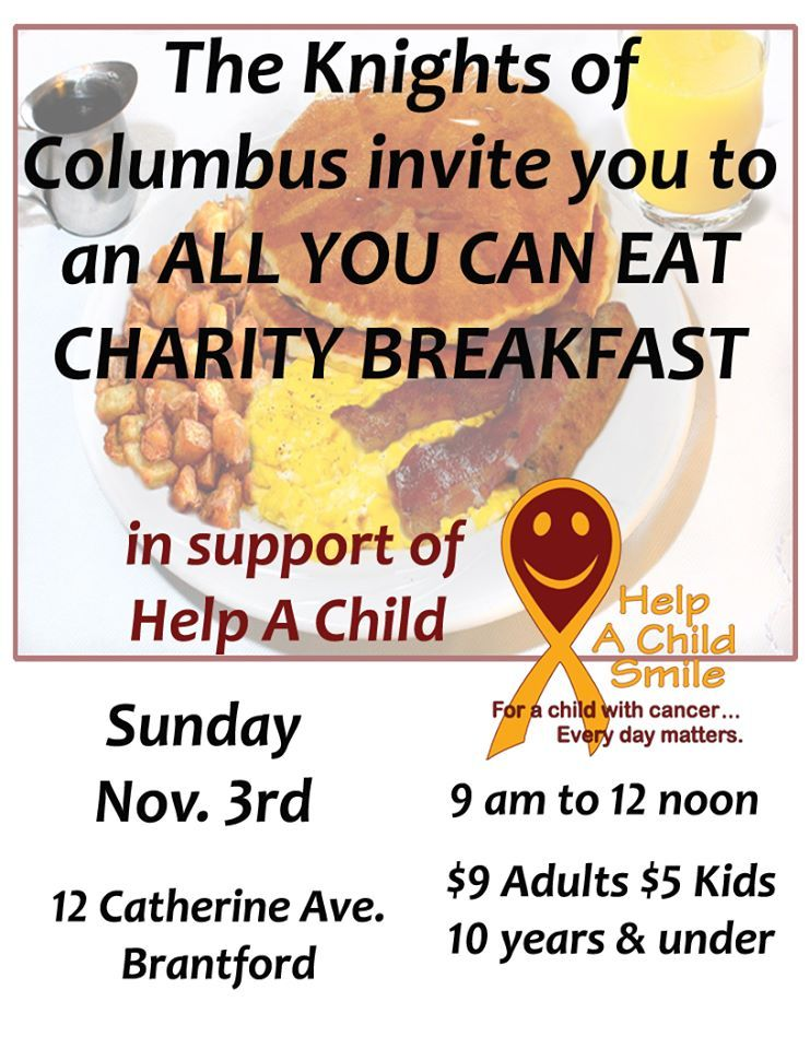 Charity All You Can Eat Breakfast poster