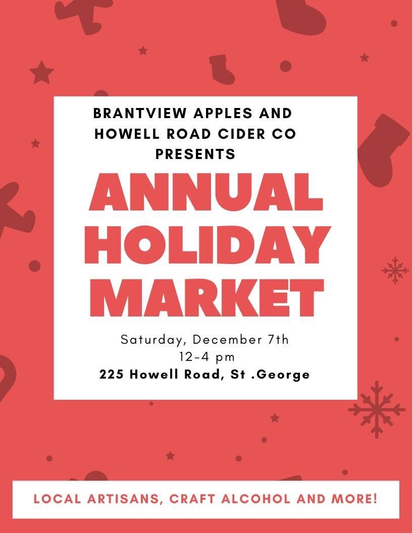 Annual Holiday Market poster