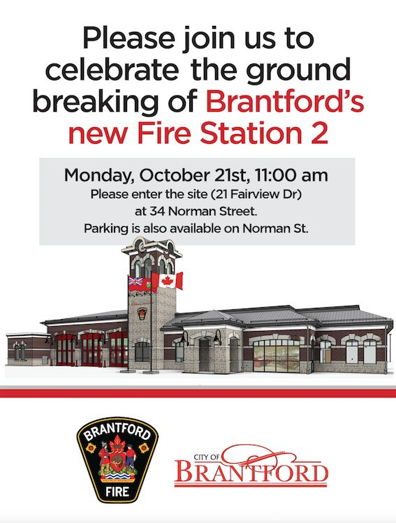 Ground Breaking - Brantford's New Fire Station 2 poster