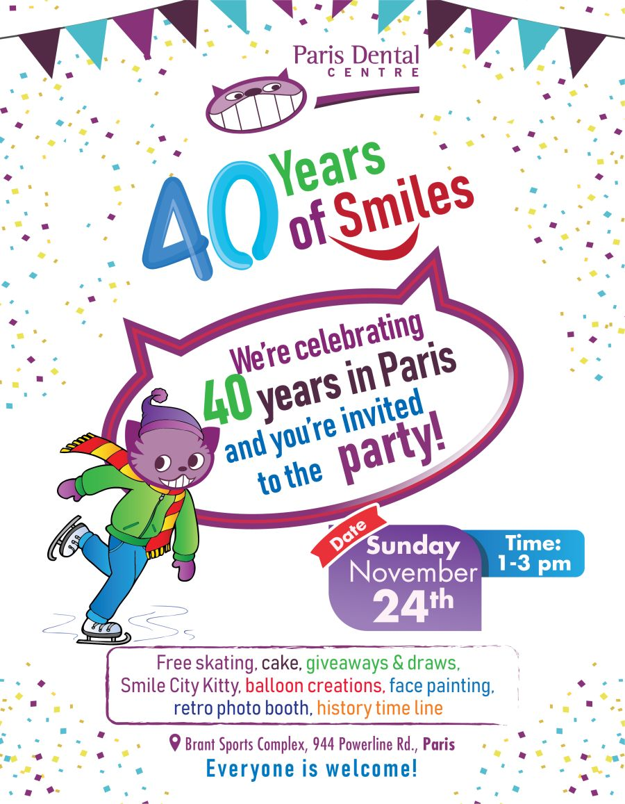 Paris Dental Centre's 40th Anniversary Party poster