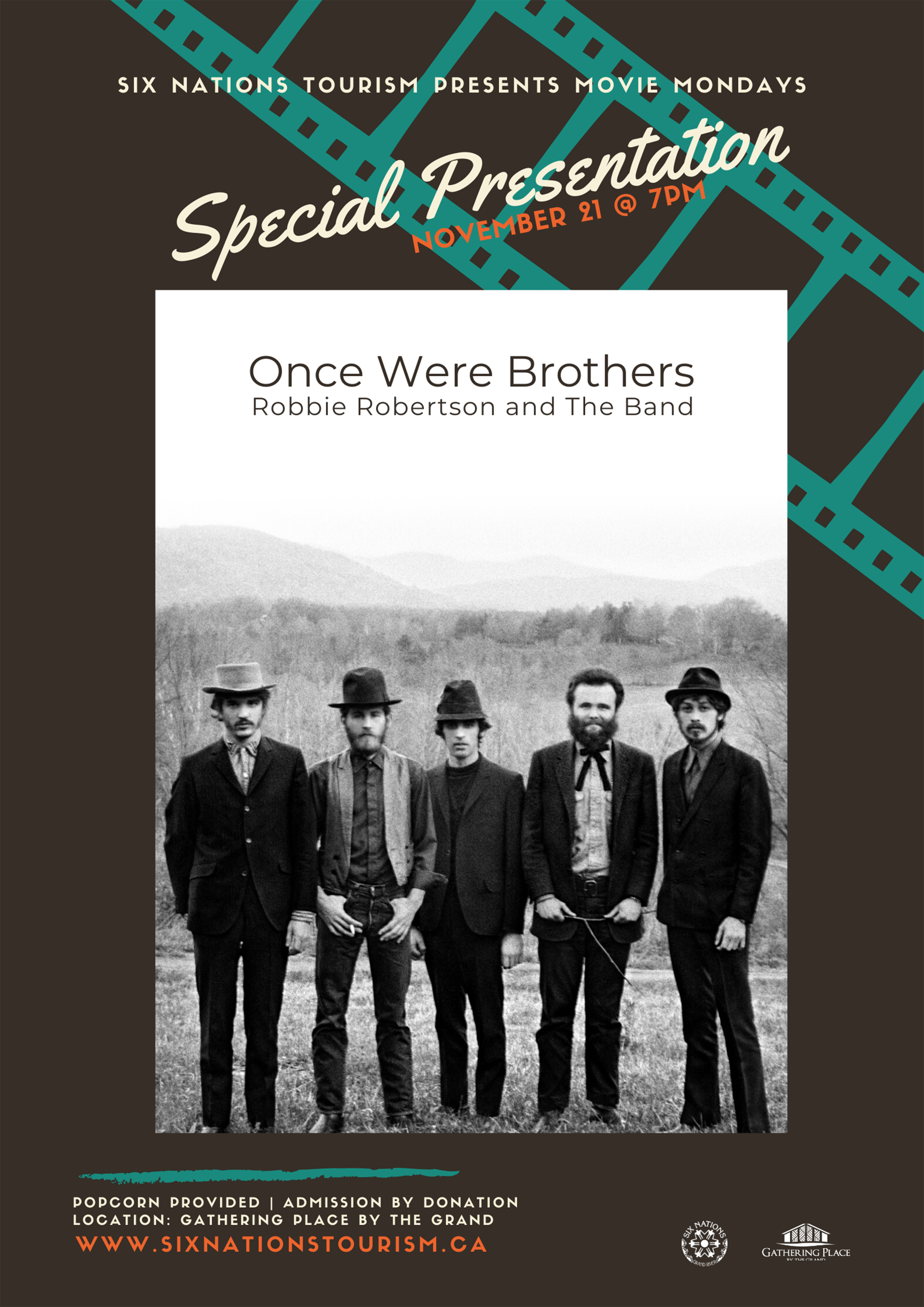 Six Nations Tourism presents Movie Mondays: Once Were Brothers poster