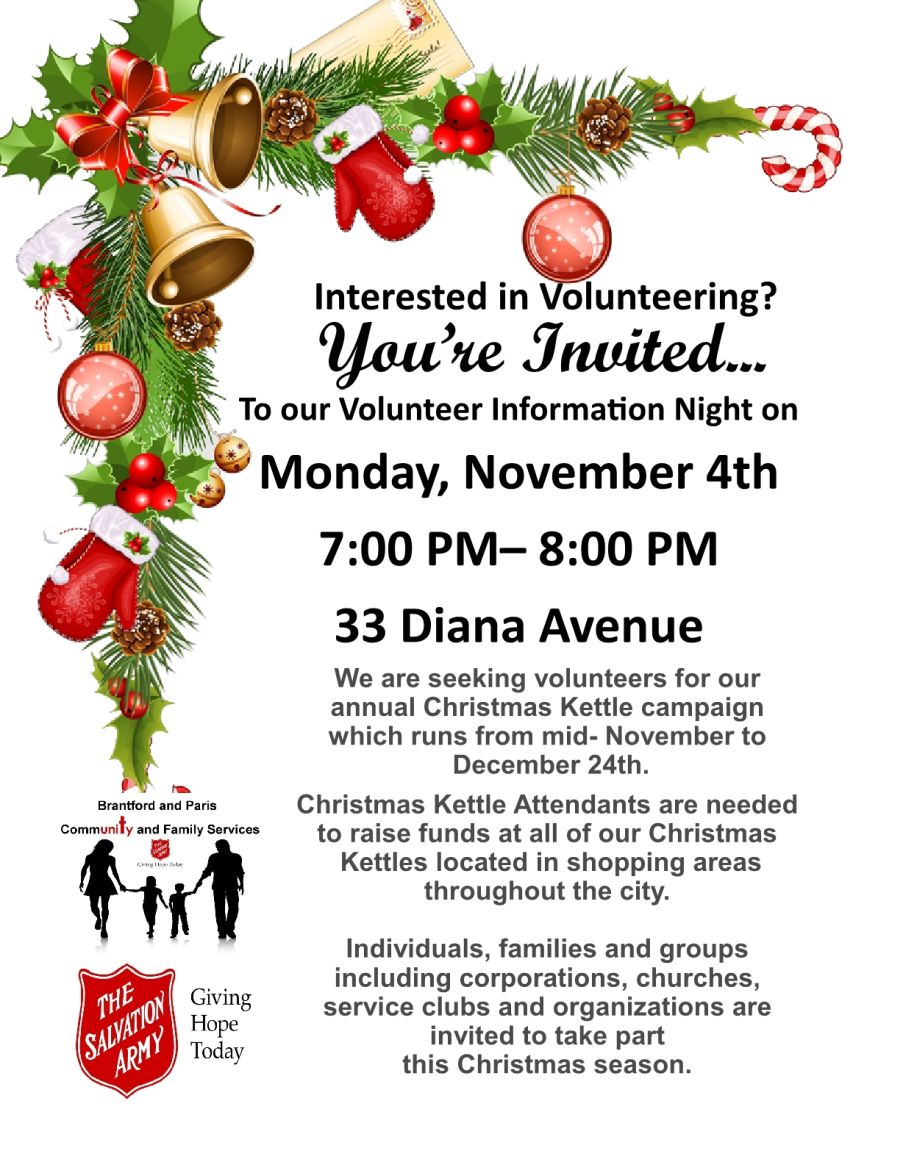 Volunteer Information Night poster