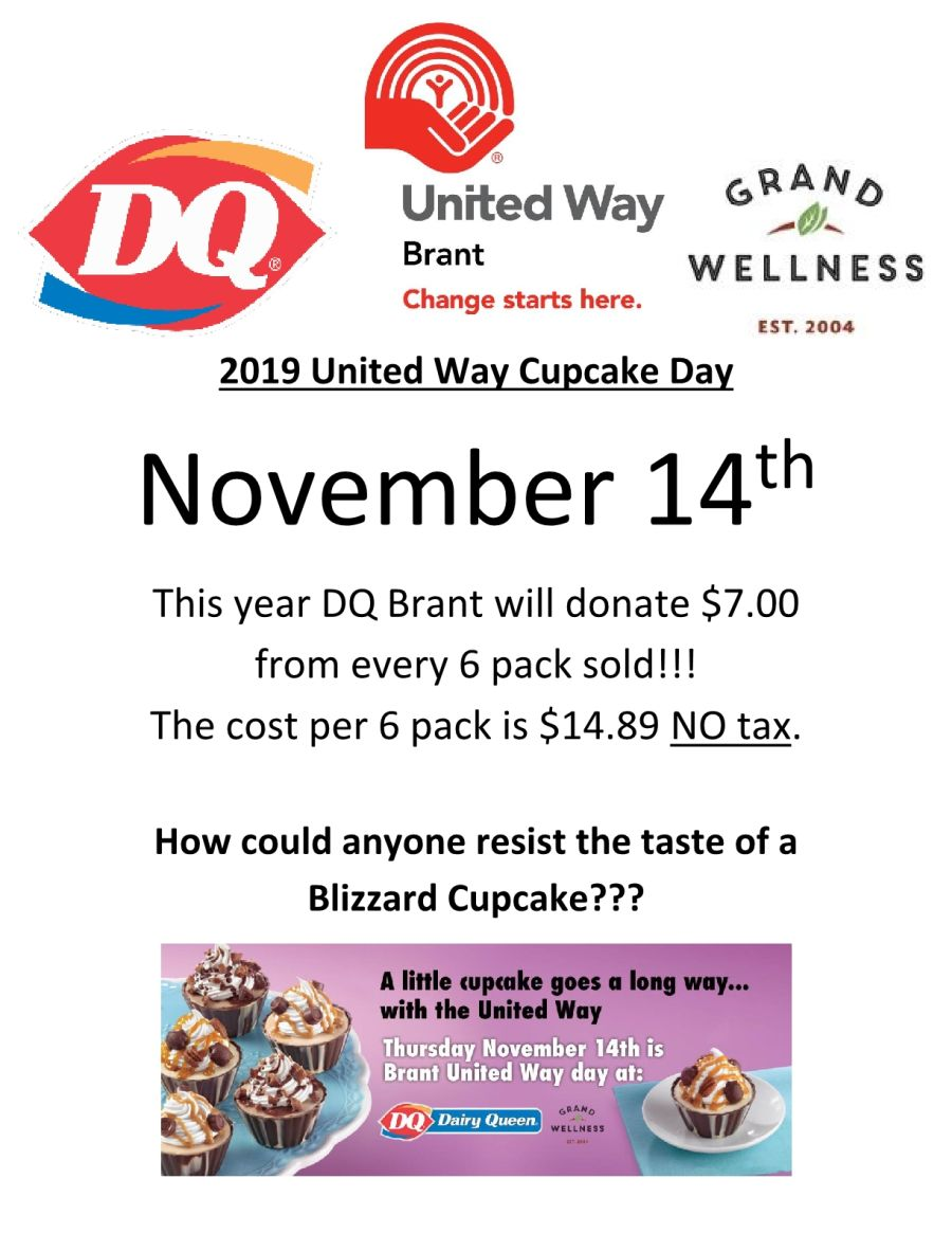 2019 United Way Cupcake Day poster