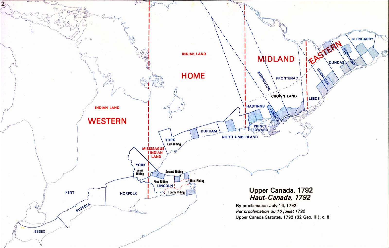 Ontario Districts 1792