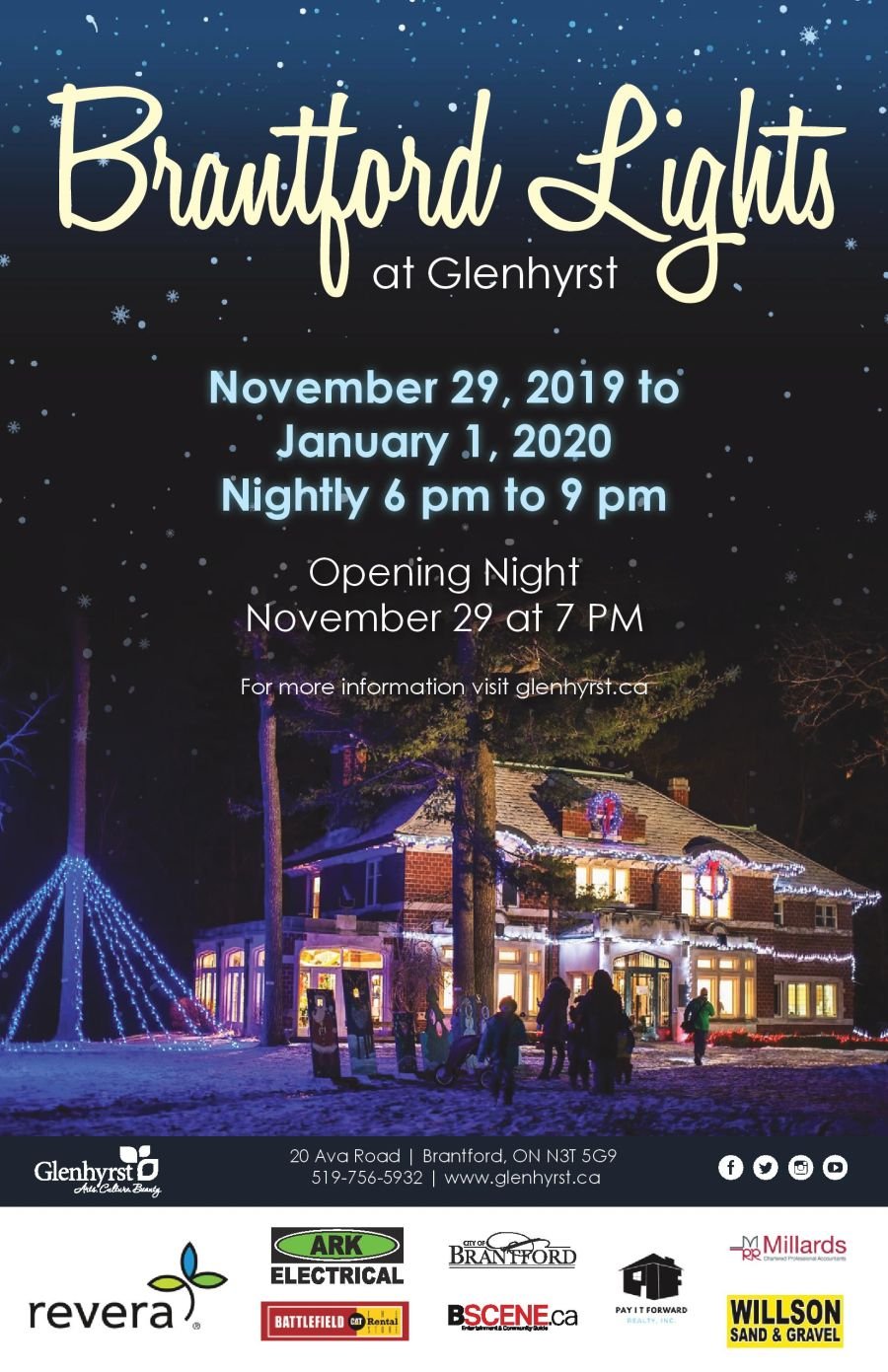 Brantford Lights at Glenhyrst poster