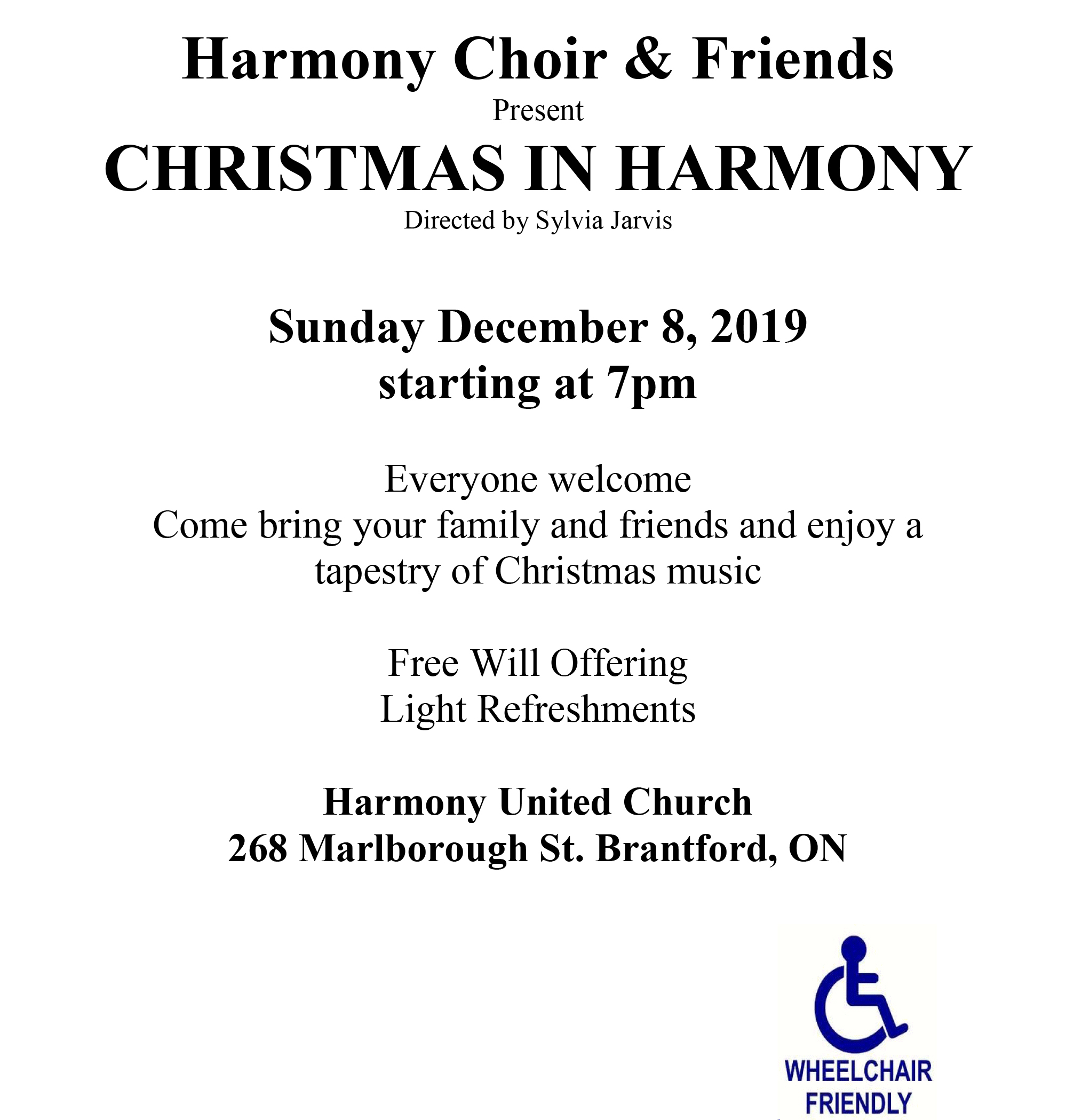 Christmas In Harmony poster