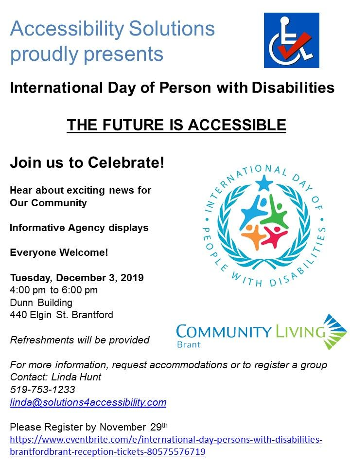 International Day of Person with Disabilities Reception poster