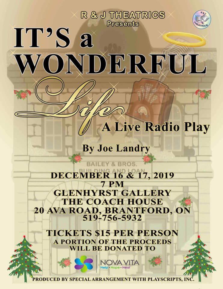 It's a Wonderful Life radio play poster