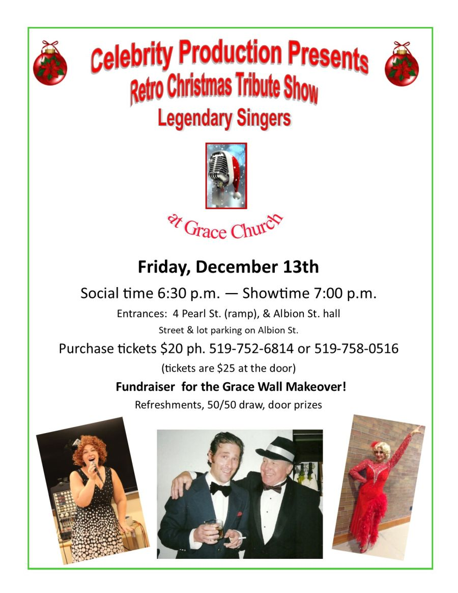 Retro Christmas Tribute Show Legendary Singers poster