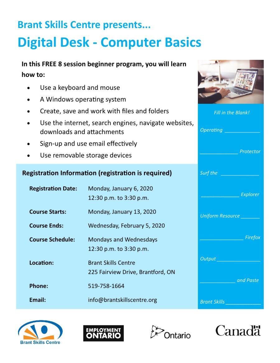 Digital Desk - Computer Basics poster