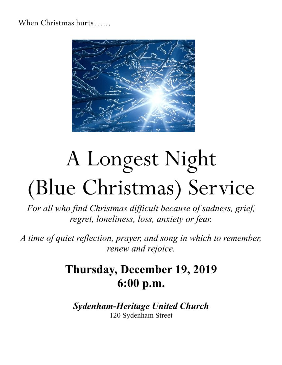 Longest Night (Blue Christmas) Service poster