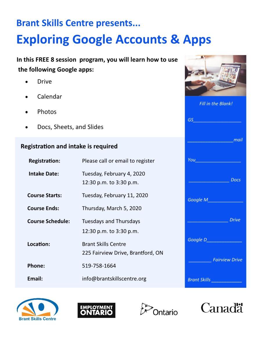Exploring Google Accounts & Apps poster
