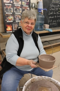 Judy Dean Making Bowls