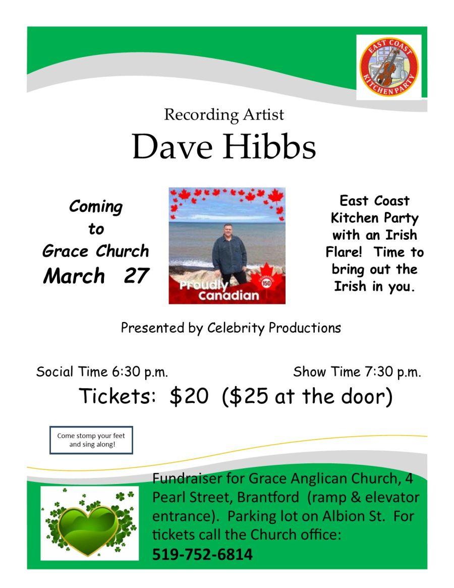 Recording Artist Dave Hibbs poster