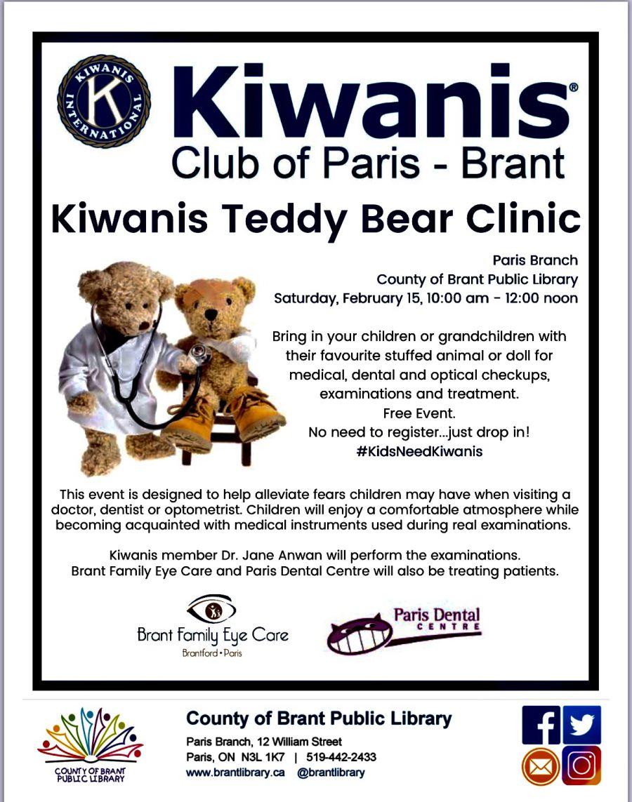 Kiwanis Teddy Bear Clinic poster