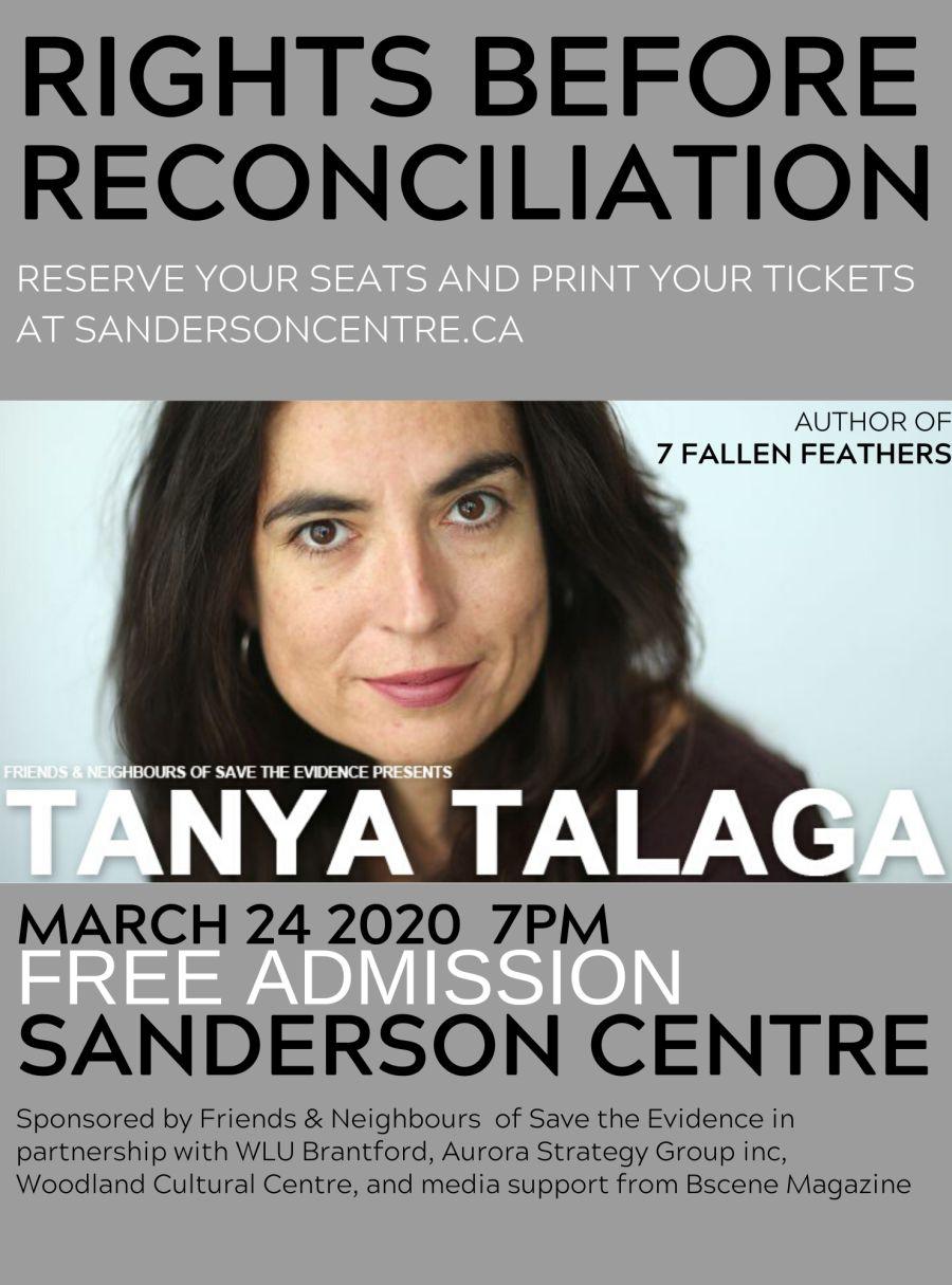 Tanya Talaga poster