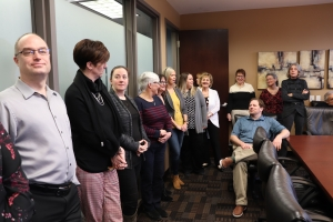 Millards Staff Help Celebrate the Announcement