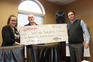 Why Not & Millards Cheque Presentation