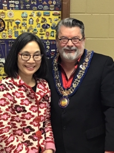 Jan Wong and Mayor David Bailey
