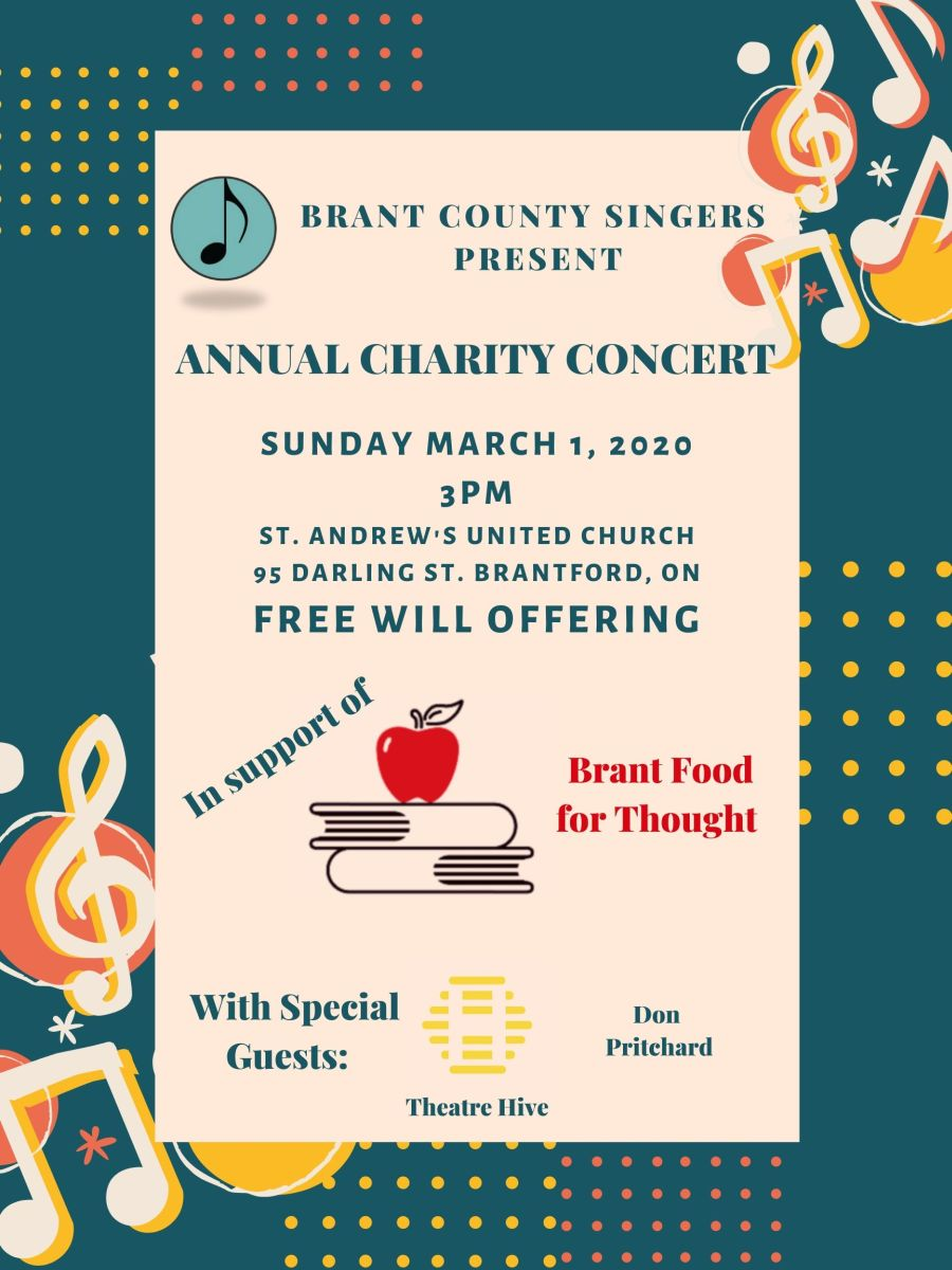 Brant County Singers - Annual Charity Concert poster