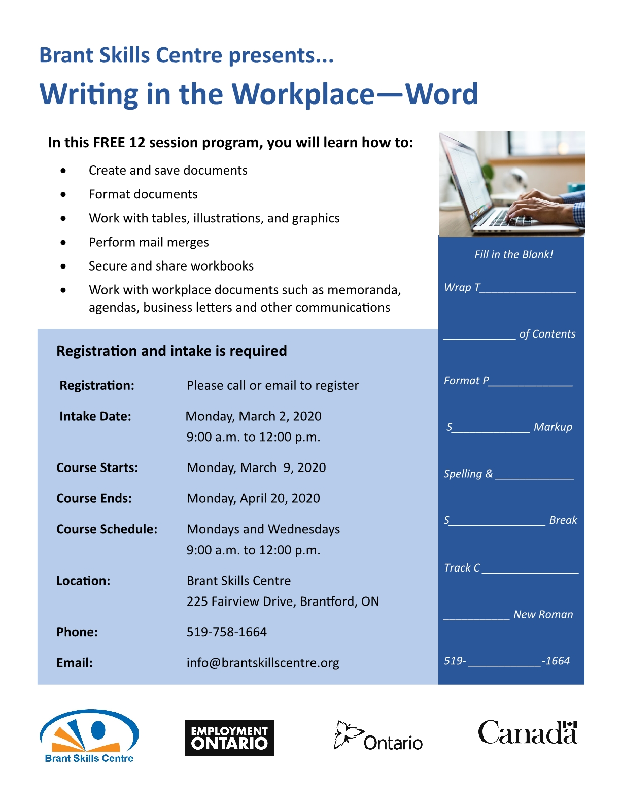 Microsoft Word - Writing in the Workplace poster
