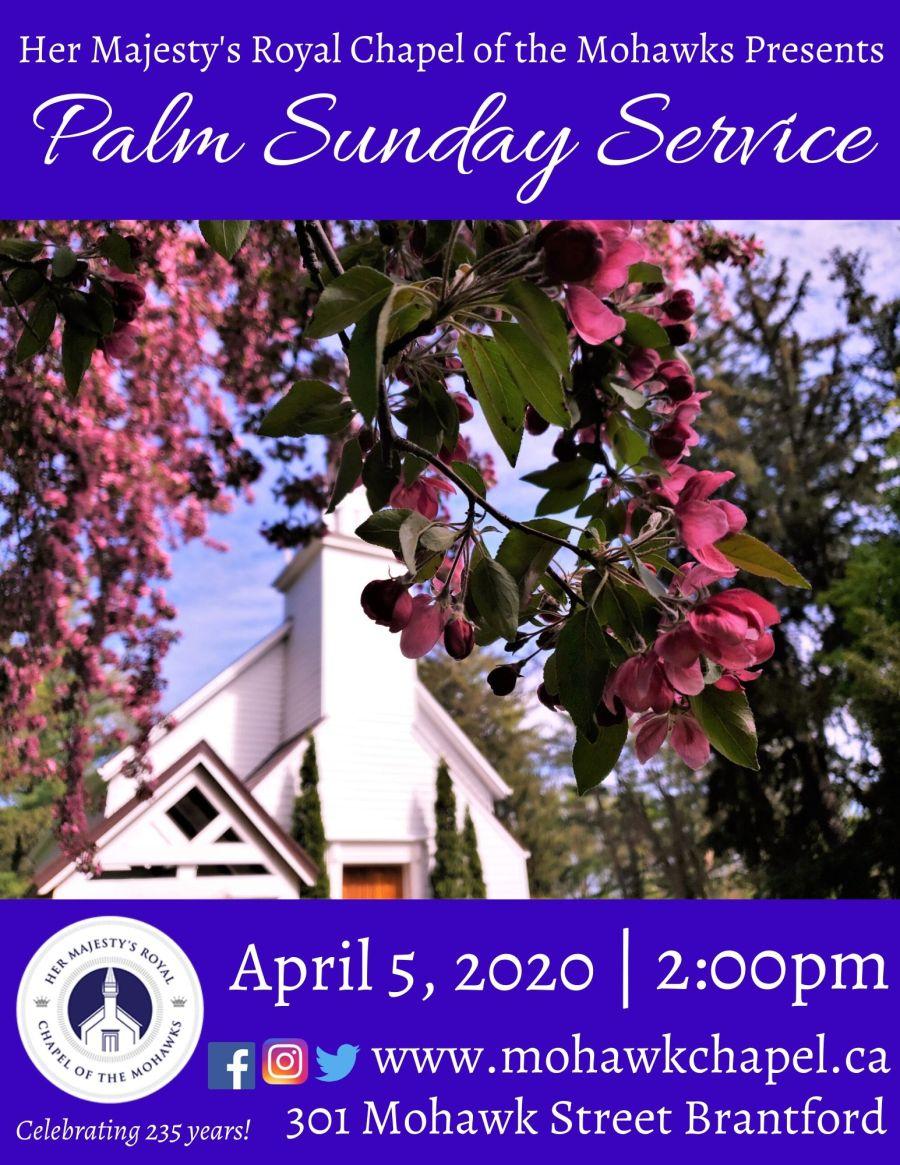 Palm Sunday Service poster