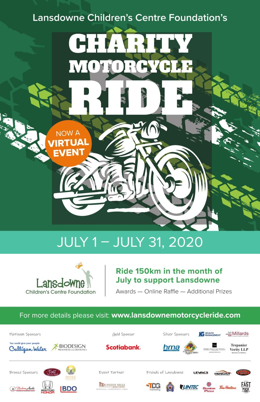 Charity Motorcycle Ride poster