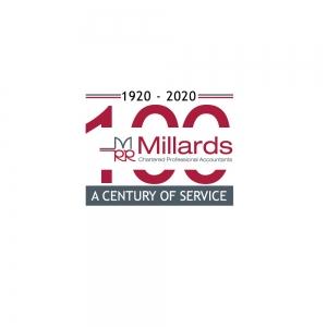Millards 100th Logo