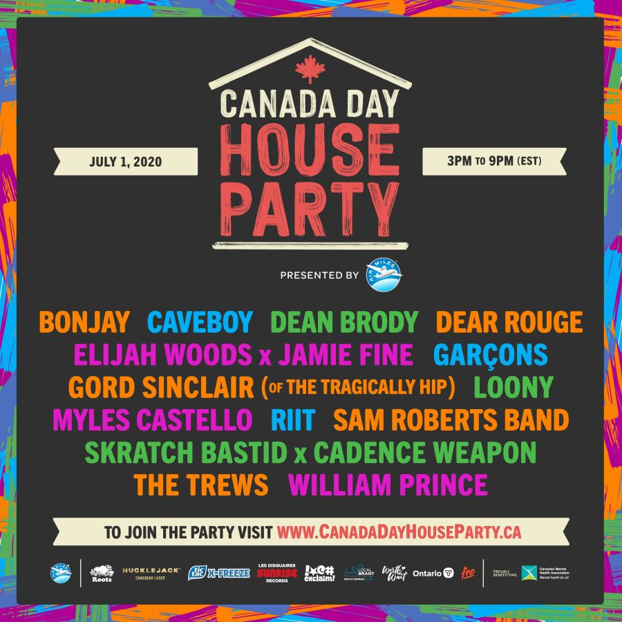 Canada Day House Party poster
