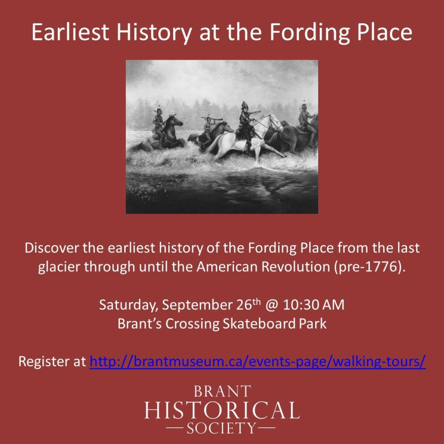 Earliest History at the Fording Place poster