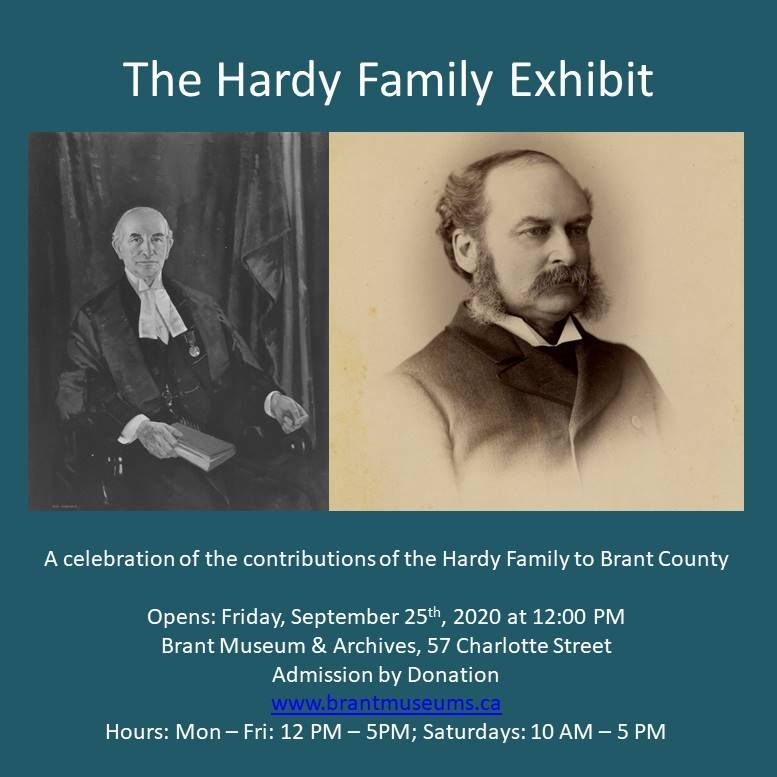 Hardy Family Exhibit poster