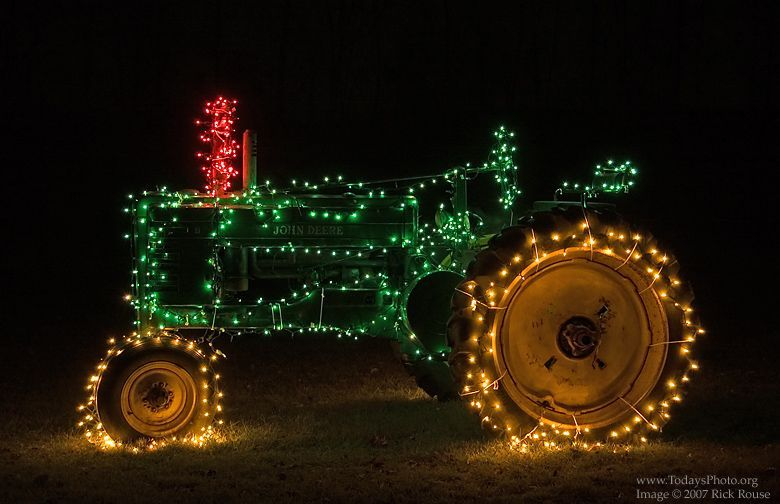 image of decorated tractor