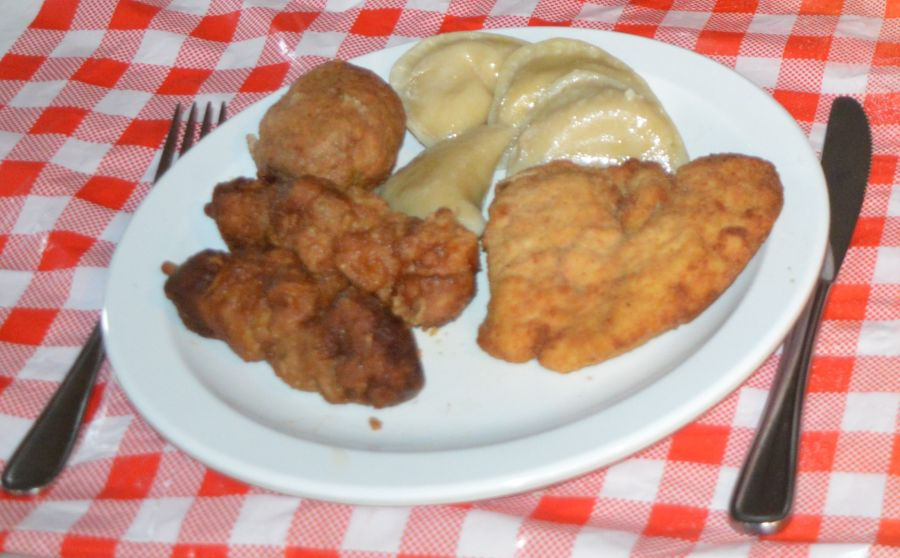 menu items from Brantford Polish Hall